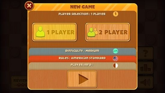 Checkers Deluxe Game startup