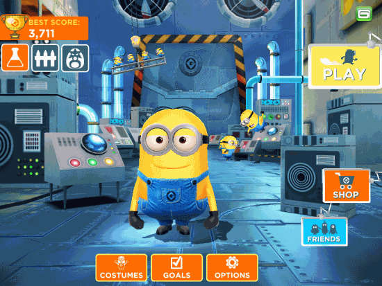 Despicable Me- Minion Rush-Different options