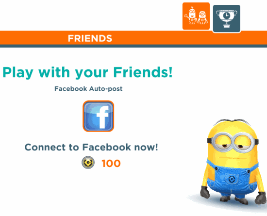 Despicable Me- Minion Rush-Facebook friends