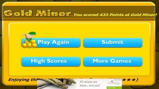 Gold miner Classic Level Failed