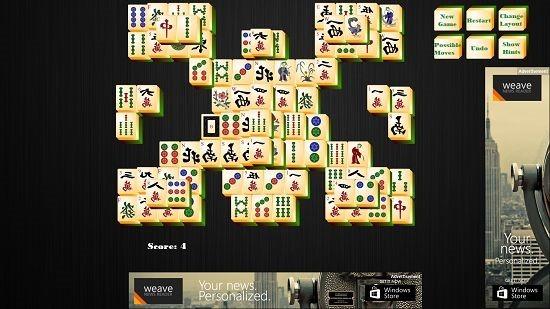 Mahjong HD score