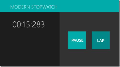 Modern Stopwatch - Running