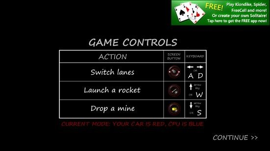 Race And Battle Controls