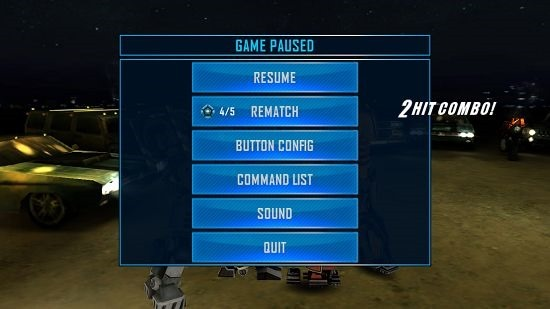 Real Steel World Robot Boxing Pause menu
