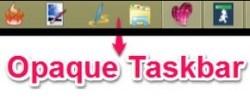 Opaque Taskbar