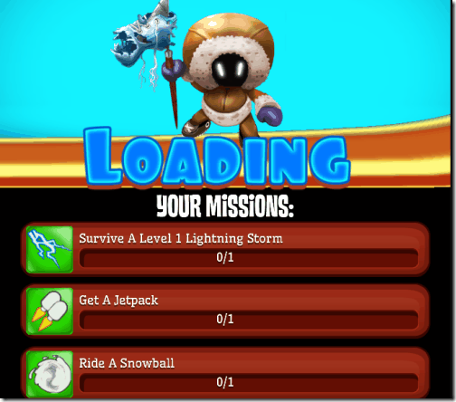Skiing Fred - Mission Screen