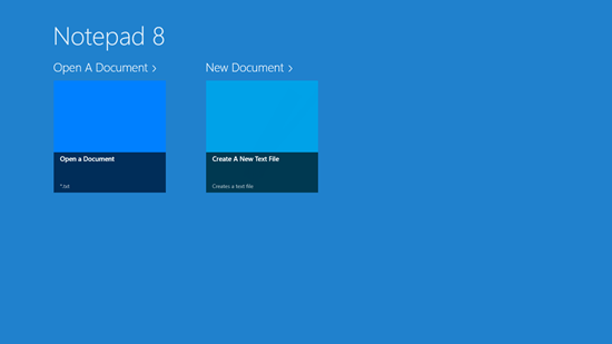 Notepad 8 - Main Screen