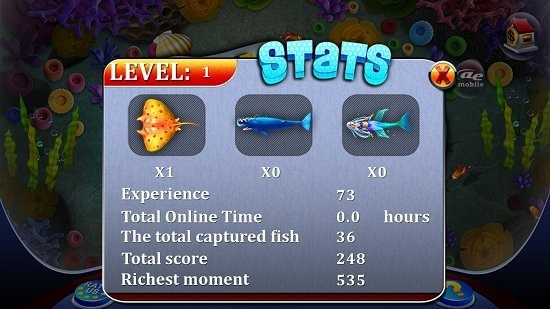 AE Lucky Fishing Statistics