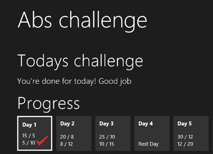Abs Challenge Day 1 Challenge done