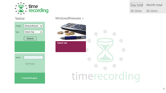 Timerecording project added