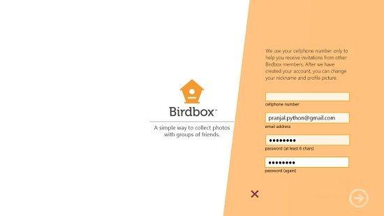 Birdbox sign up