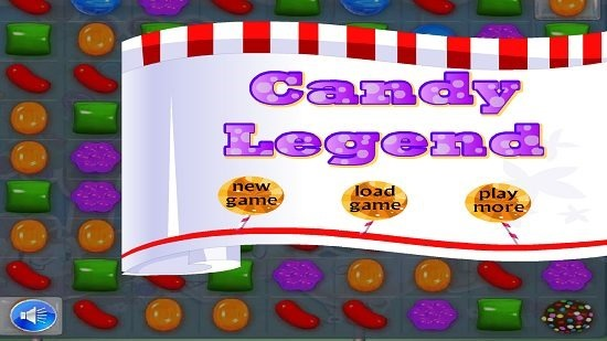 Candy Crush Saga Deluxe main menu