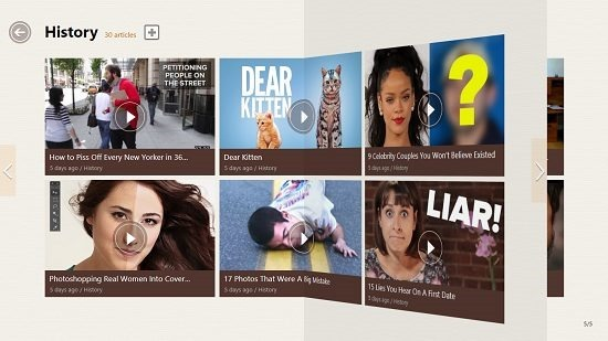 Dailyaha Magazine like interface
