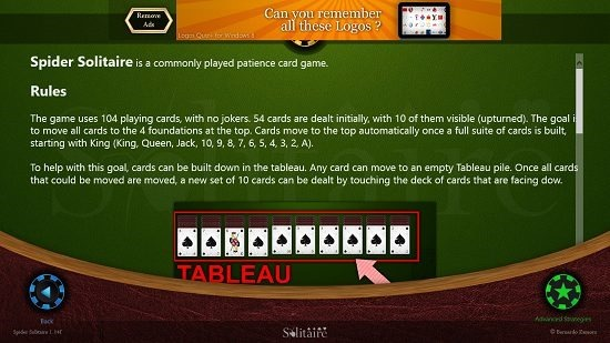 Spider Solitaire HD rules