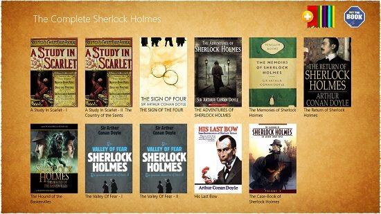 The Complete Sherlock Holmes - Free main screen