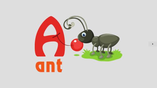 Toddler Alphabet Main screen