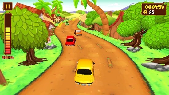 car rush gameplay