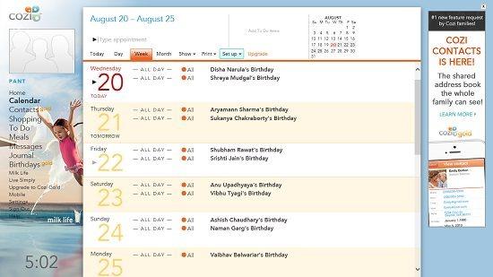 cozi calendar app