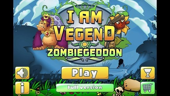I Am Vegend Zombiegeddon main screen