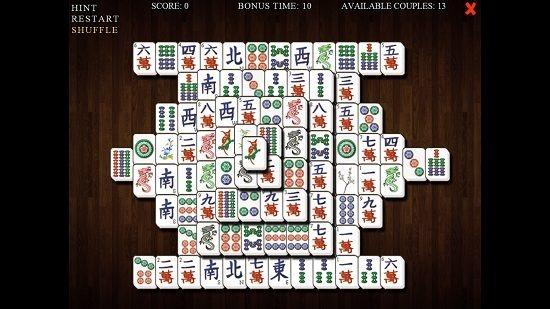 Mahjong Deluxe Board Shuffled