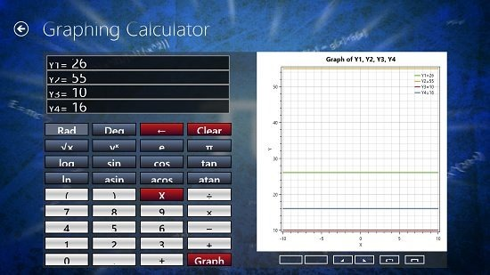 MatGraph Calc Graphing Calculator Screen