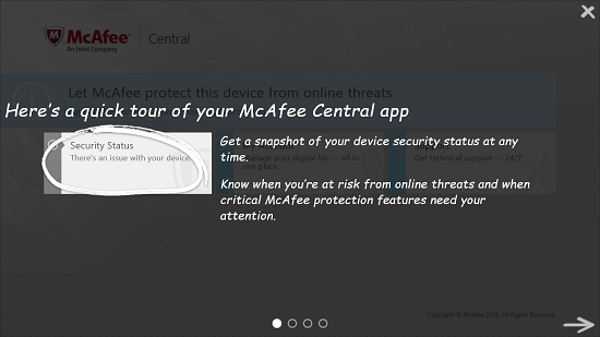 McAfee Central Quick Tour