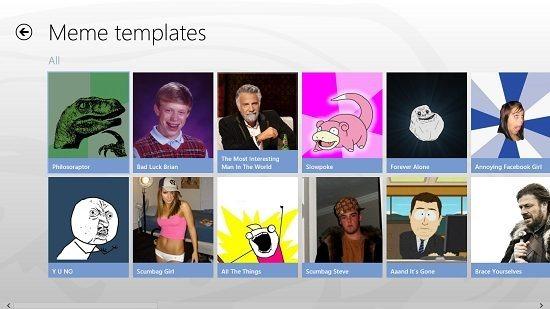 Meme-maker templates