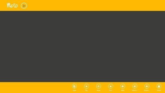 Moto Player Main screen