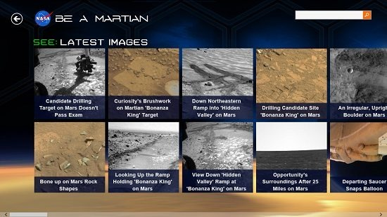 NASA Be A Martian Images