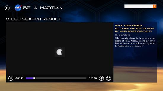 NASA Be A Martian Video