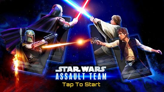 Star Wars Assault Team main screen