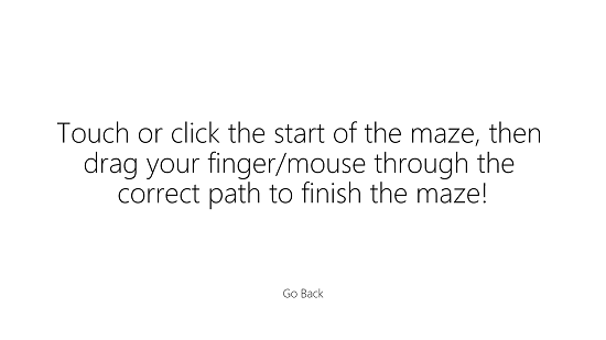Amazing Mazes Instructions
