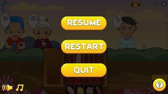 BBQ King pause menu