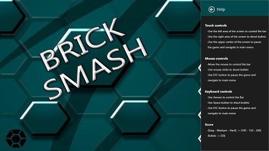 Brick Smash Help Section