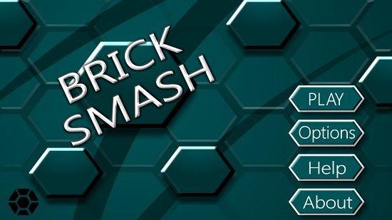 Brick Smash Main Screen