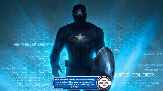 Captain America Winter Soldier main screen