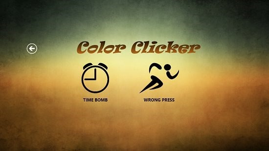 Color Clicker Select Game type