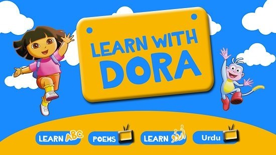 Learn With Dora main screen