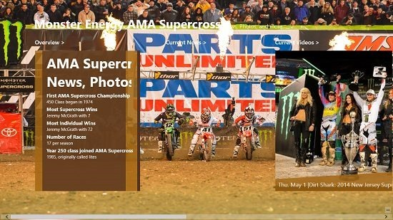 Monster Energy AMA Supercross main screen