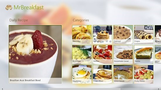 MrBreakfast Daily recipe and other categories