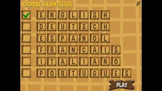 Word Waffle Select Language