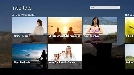 meditation lite main screen