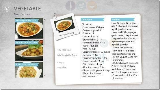 Chef@Home recipe instruction screen