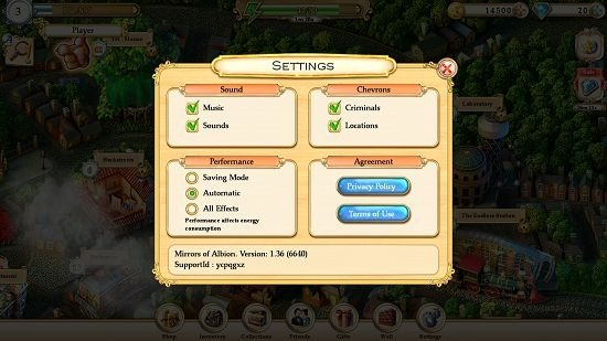 Mirrors Of Albion settings
