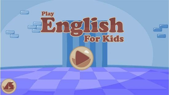 Play English For Kids main screen
