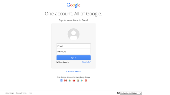 Quick Gmail main screen