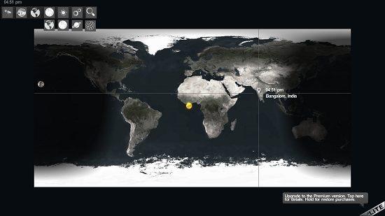 SkyORB main screen