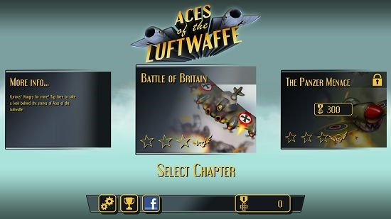 Aces Of The Luftwaffe main screen