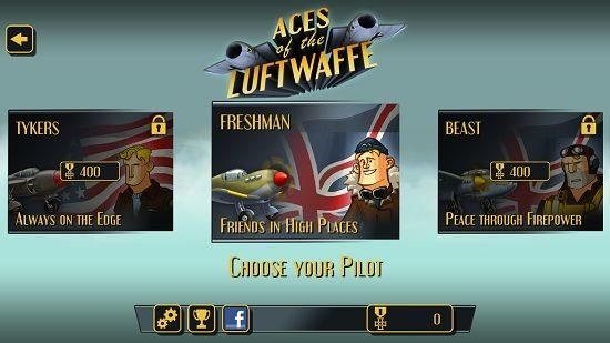 Aces Of The Luftwaffe pilot selection