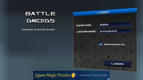 Battle Droids Login
